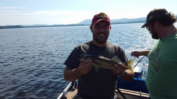 One lone walleye. This is the only fish we caught out of Sacandaga after trolling for a couple hours.